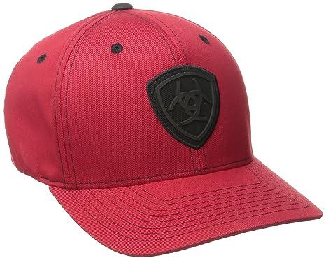 on sale 086ff 7079c ... australia ariat mens black flex fit hat red small medium 6db0e 4cd01