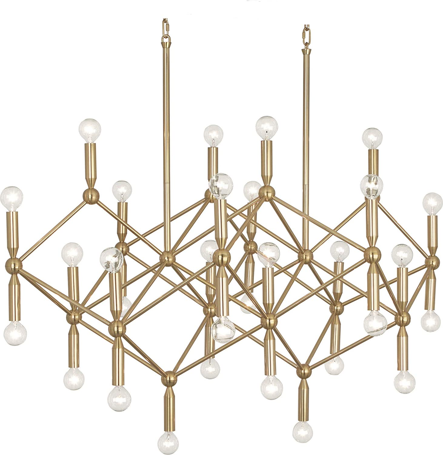 Robert Abbey 399 Jonathan Adler Milano - Thirty Light Chandelier, Polished Brass Finish Finish