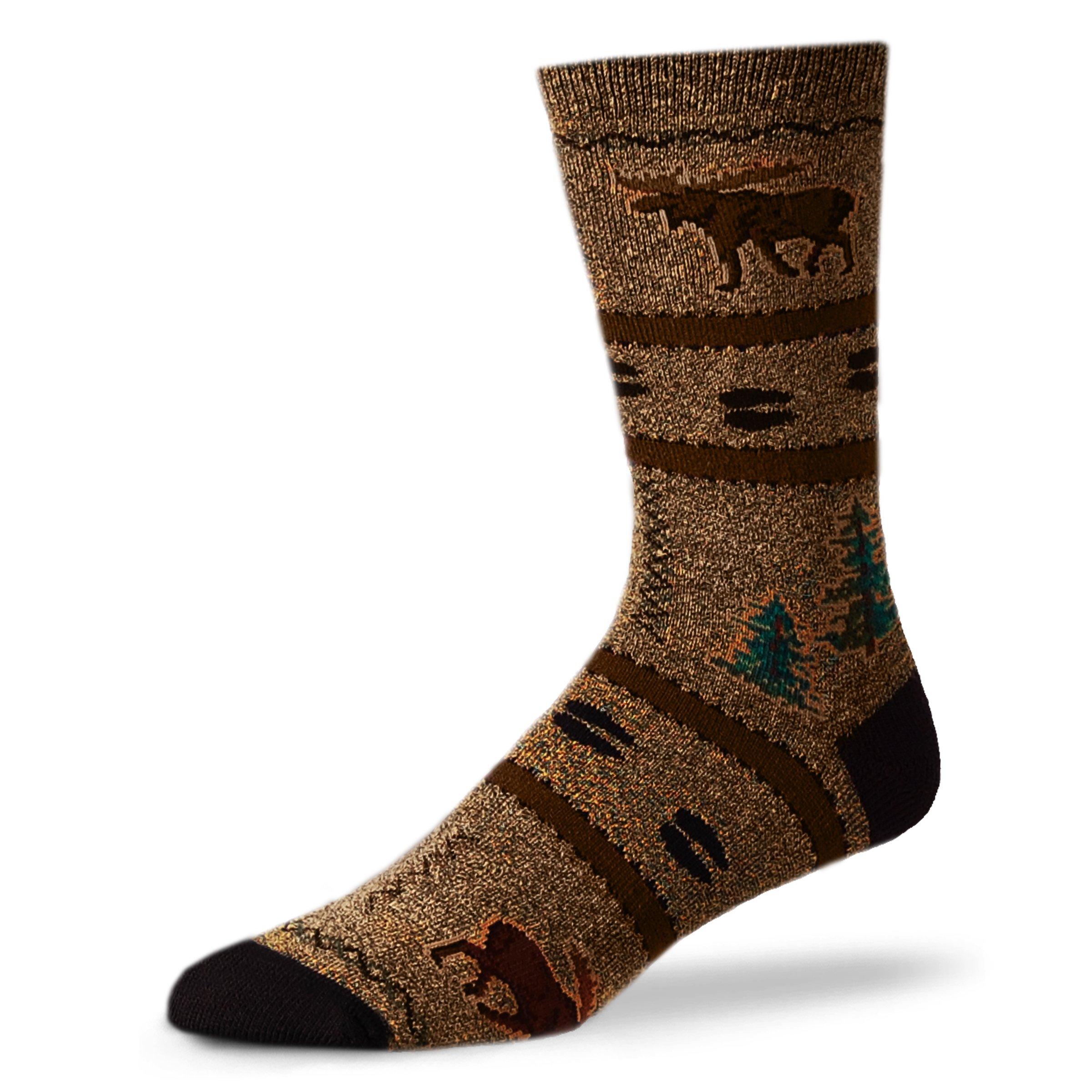 For Bare Men's Northwoods Moose Socks Plush Lg