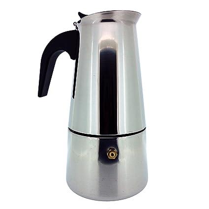 Cafetera Café Espresso Italiano Mocha - Mejor Cafetera Acero Inoxidable Pulido con Filtro Permanente y Asa Resistente al Calor - Perfecta para Uso ...