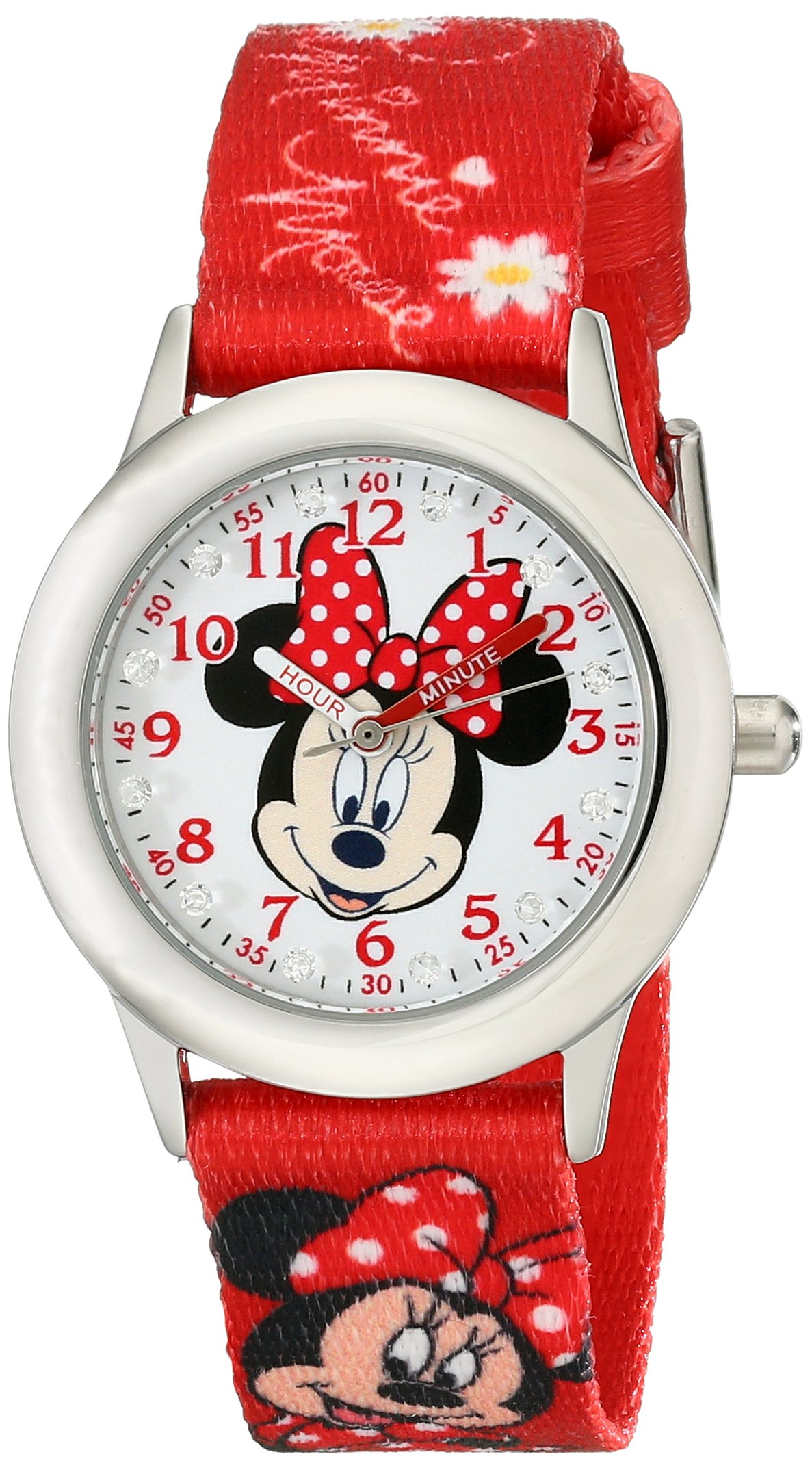 Disney Kids' W001917 Minnie Mouse Analog Display Analog Quartz Red Watch by Disney