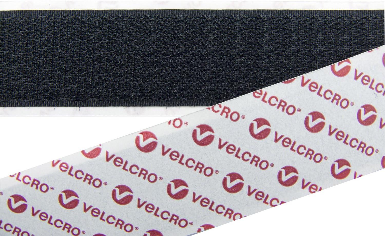VELCRO Brand Klett Selbstklebend Klebrige R/ückseite klebeband verschluss in Schwarz 50MM breit 5 Metres Schwarz
