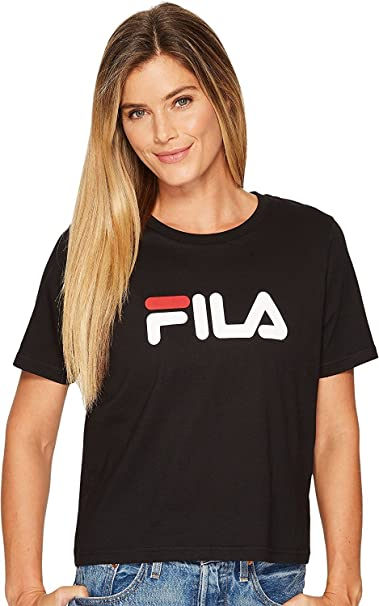 0d9c607769 Fila Women's Miss Eagle Tee, Black/White/Chinese Red, Medium: Amazon.ca:  Clothing & Accessories