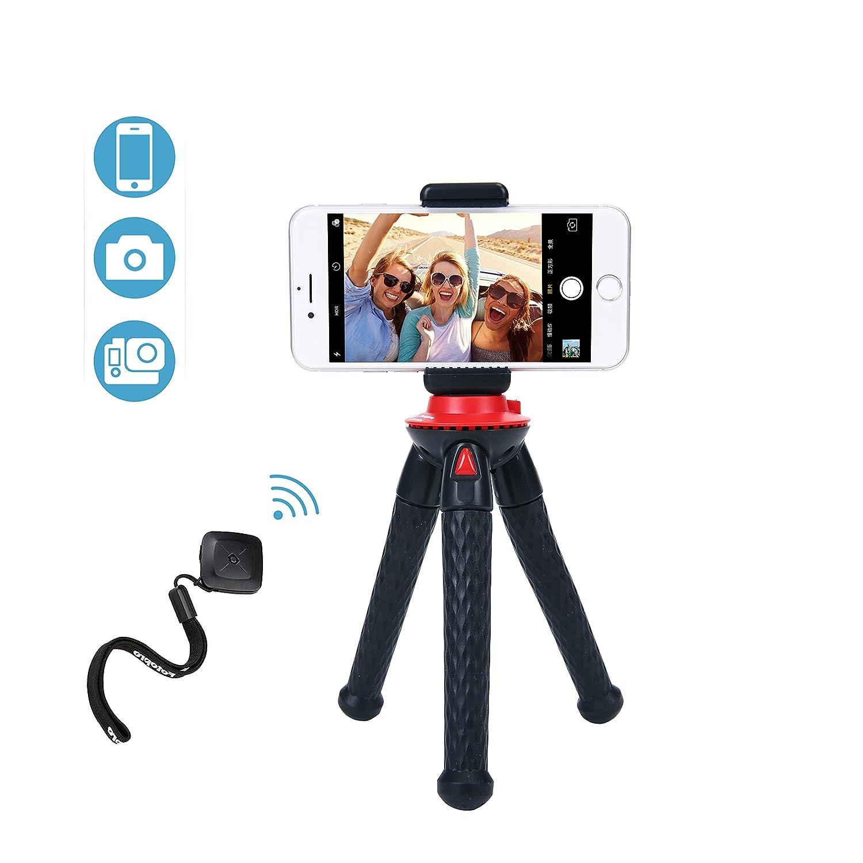 Fotopro Mini Trípode Portátil y Flexible Trípode Móvil con Control Remoto Bluetooth