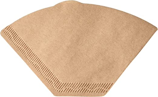 80 Size 6 Coffee Filter Paper Cones Replacement Unbleached