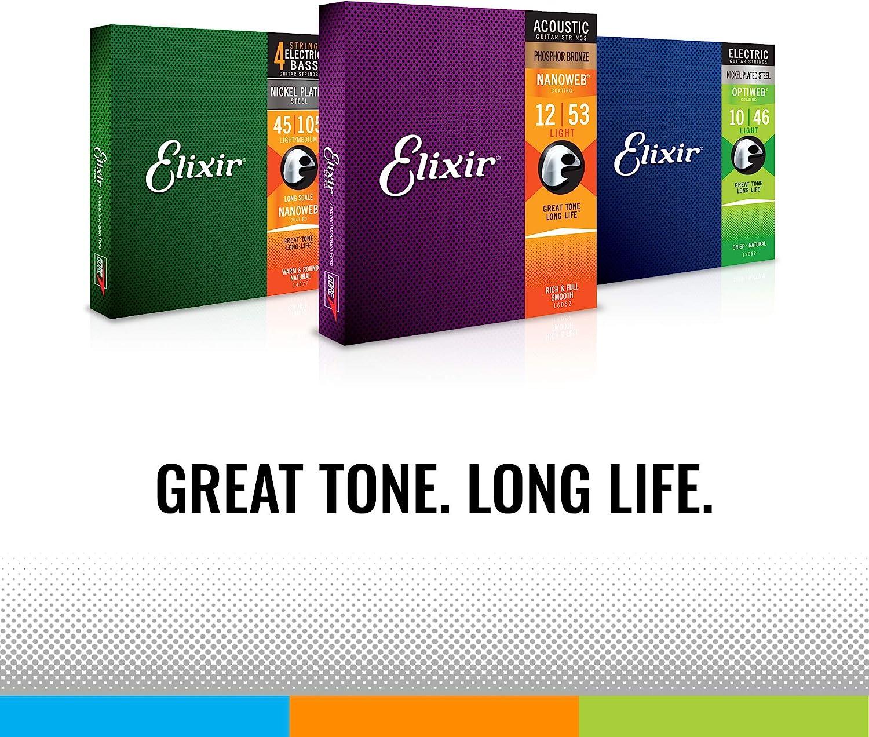 Juego de 8 cuerdas para guitarra el/éctrica ELIXIR/® 12062 NANOWEB/® n/íquel