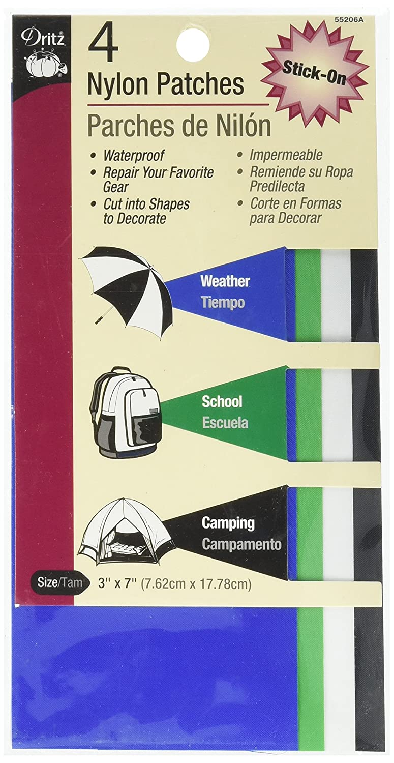 Dritz 55206B Patches Nylon Stick-On 4-Count 3 x 7-Inch Camp Colors