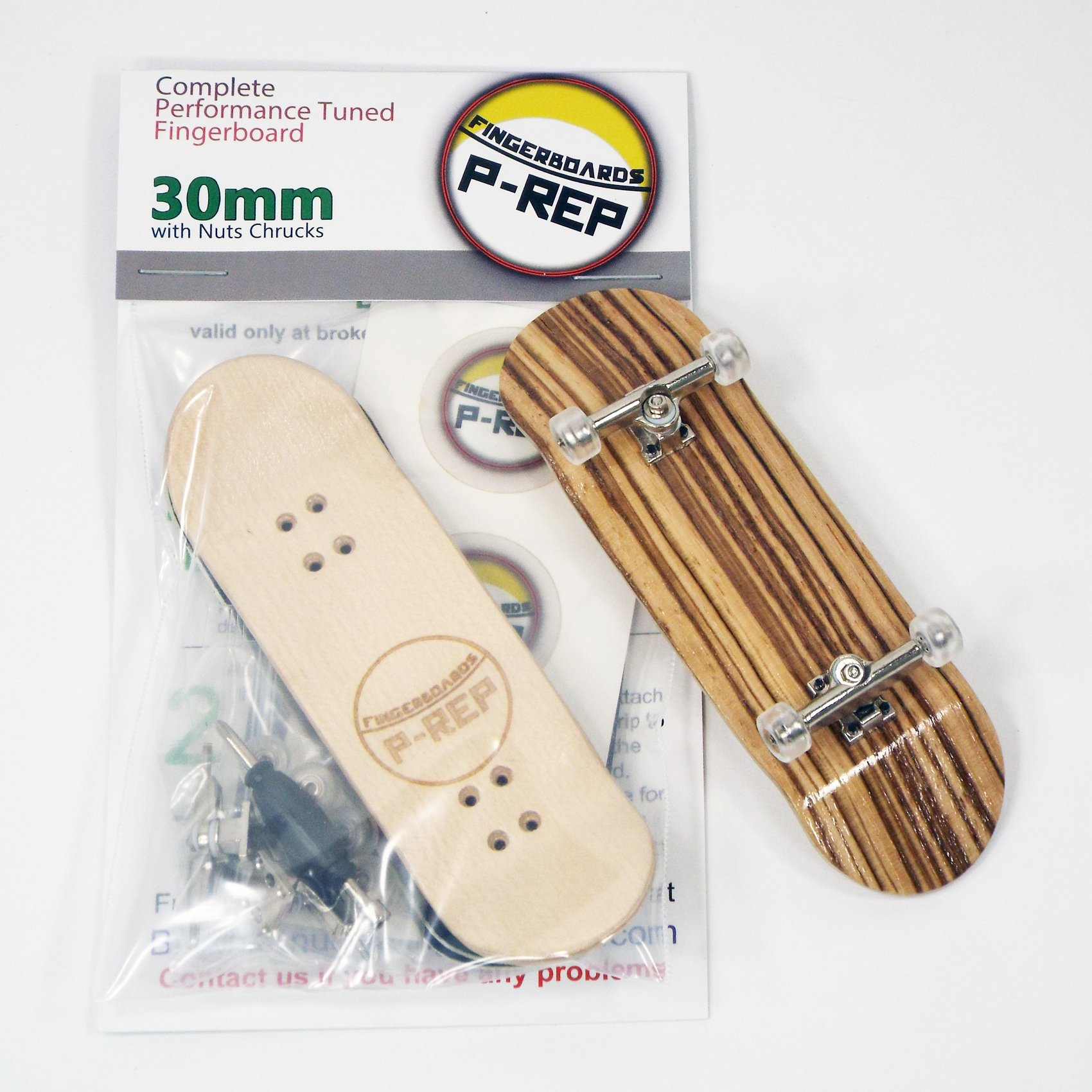 Peoples Republic P-REP 30mm Basic Complete Fingerboard Kit with Liquid Hardware - Zebra by Peoples Republic (Image #3)