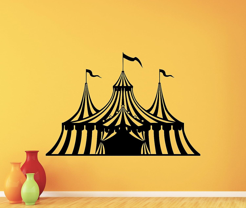 Amazon.com: Circus Wall Decal Circus Tent Logo Clown Vinyl Sticker ...