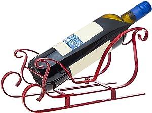 Godinger Silver Art Sleigh Wine Bottle Holder, 11