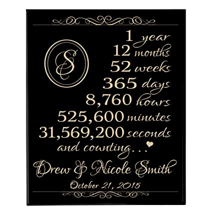 Amazon Com Lifesong Milestones Personalized 1st For Couple 1 Year