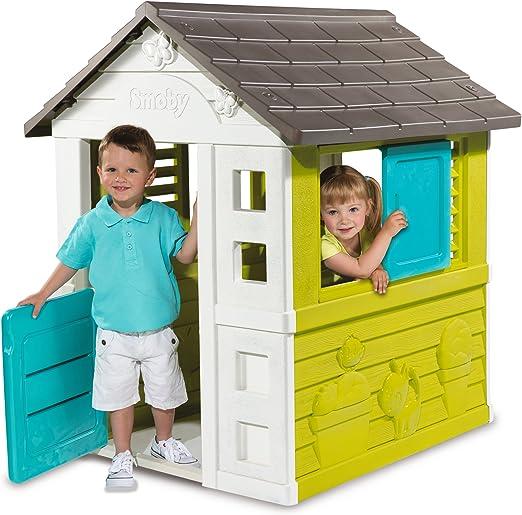 Smoby-310064 Casa de jardín, Color Azul, 112.8 x 99.8 x 20.1 (310064): Amazon.es: Juguetes y juegos