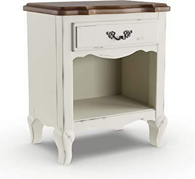 The French Countryside Night Stand by Home Styles - Oak Finish/Rubbed/Distressed - White