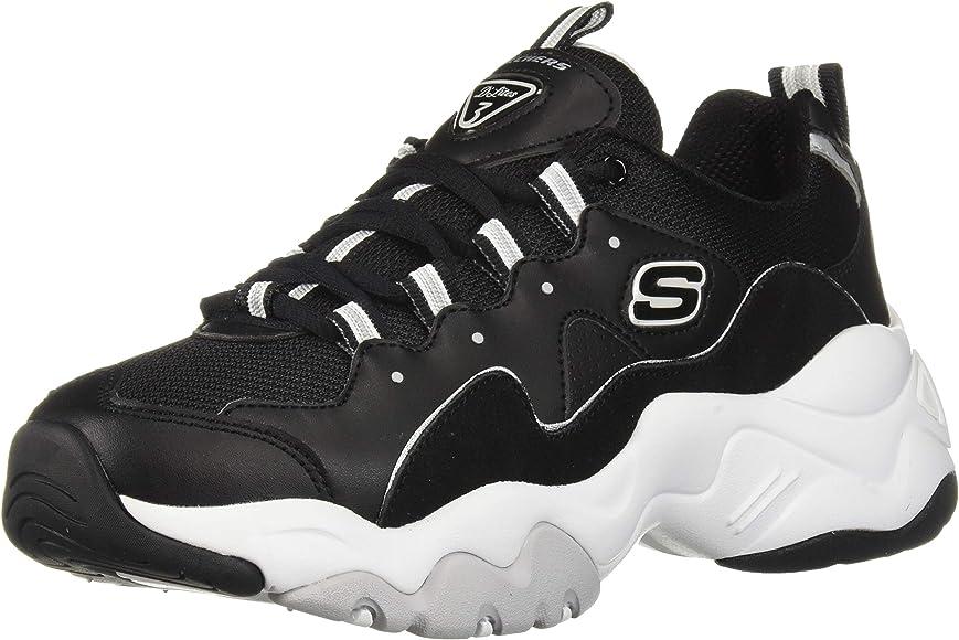 diseño distintivo ventas especiales Tienda Amazon.com | Skechers Women's D'Lites 3 Sneaker, Black/White, 6 M ...