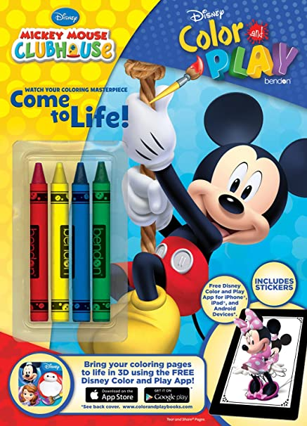 Amazon Com Bendon Disney Mickey Mouse Color And Play 32 Page