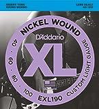 D'Addario ダダリオ ベース弦 ニッケル Long Scale .040-.100 EXL190 【国内正規品】