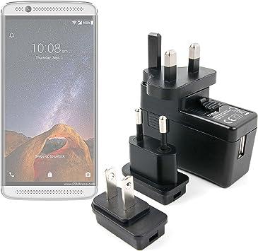 DURAGADGET Kit De Adaptadores con Cargador para Móvil ZTE Axon 7 Mini | Sonata 3 | Warp | Zmax Pro: Amazon.es: Electrónica