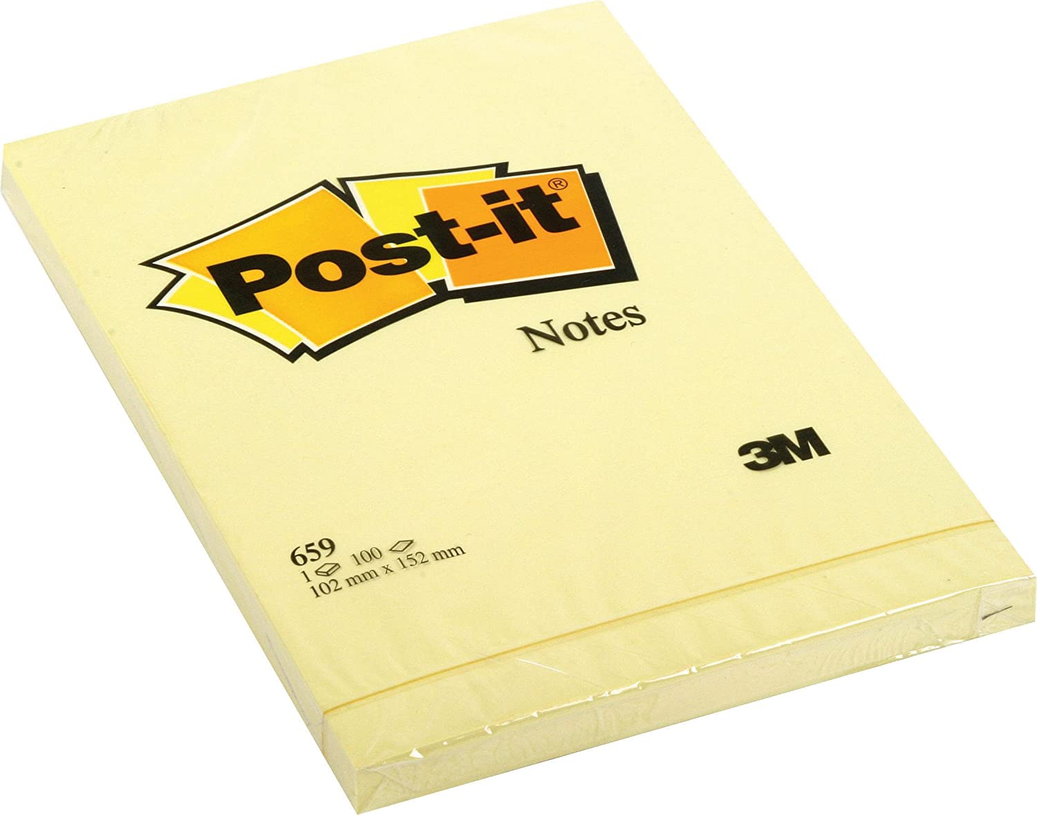 Post-it Brand 94293 Large Notes, 100 Fogli, 102 mm x 152 mm, 6 pezzi 3M ITALIA SRL 659