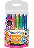 Paper Mate Inkjoy 100 Mini RT Stylo Bille Rétractable Pointe Moyenne 1,0mm - Assortiment Fun (Lot de 10)