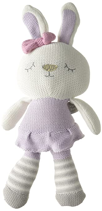 Living Textiles Violet Bunny Plush Toy
