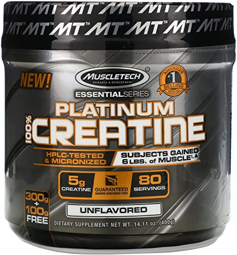 Muscletech Essential Series Platinum 100 Creatine Unflavored 14 11 oz 400 g