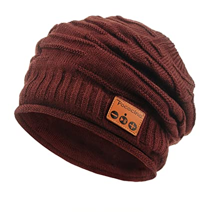 62bdeecb287 Pococina Upgraded 4.2 Bluetooth Beanie Music Hat Winter Knit Hat Cap  Wireless Headphone Musical Speaker Beanie