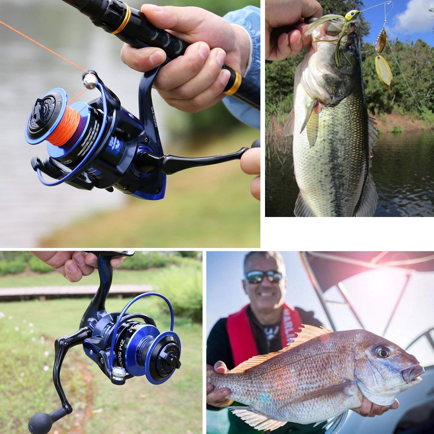 Sougayilang Telescopic Fishing Rod and Reel Combos with Lightweight 24-Ton Graphite Rod and Spinning reels