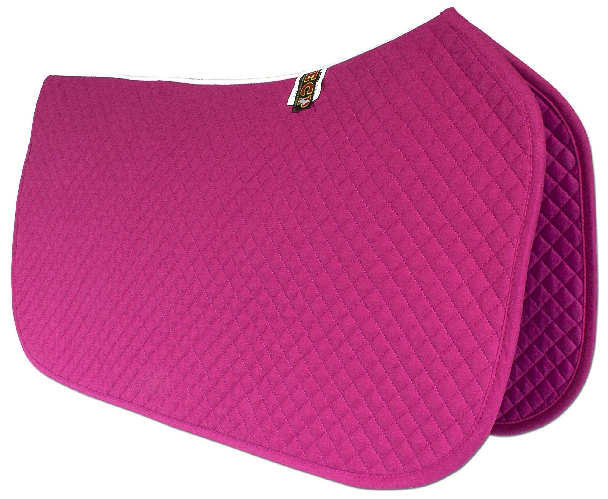 ECP Western All Purpose Diamond Quilted Cotton Saddle Pad Color Rose