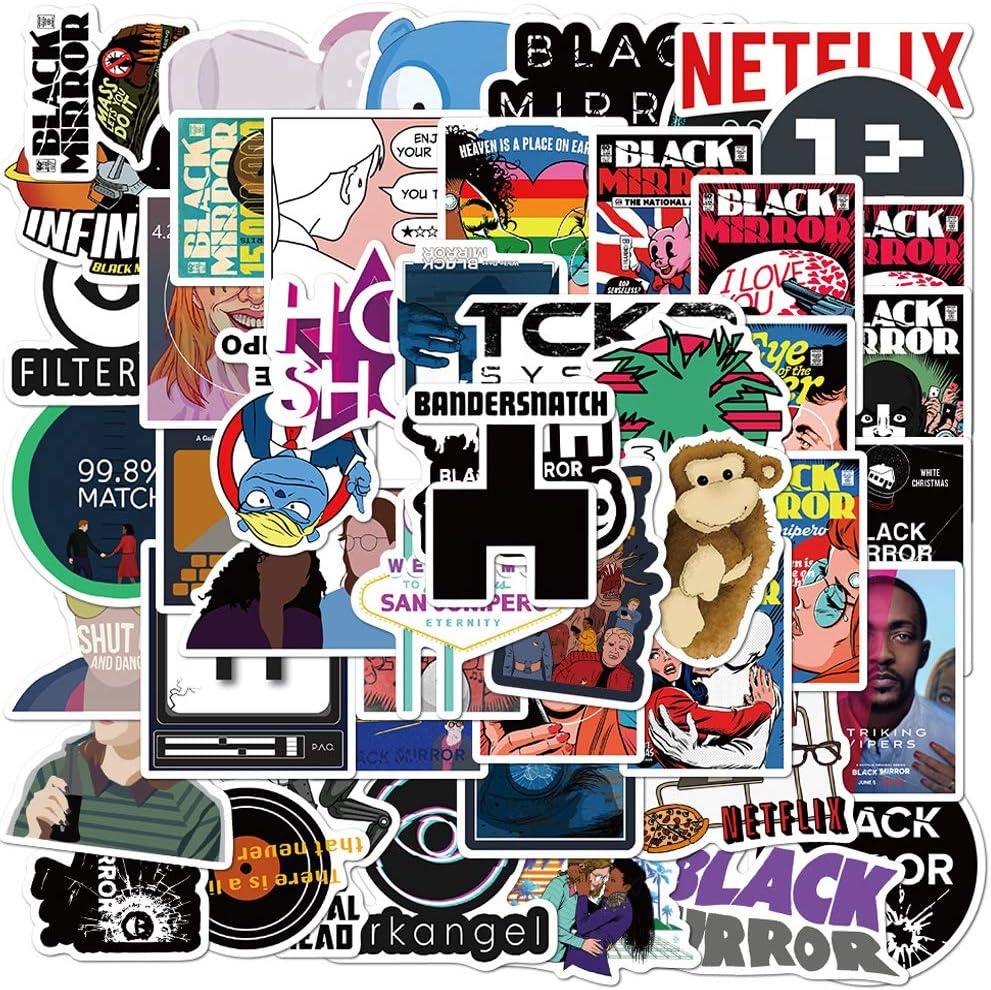 The TV Show Black Mirror Stickers,50PCS Laptop Stickers Water Bottle Stickers Waterproof Decal Graffiti