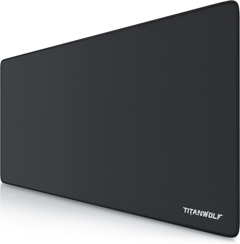 TITANWOLF - XXL Alfombrilla para ratón 900 x 400 mm - Speed Gaming Mousepad - Mouse Pad para Ordenador - Base para Mesa Grandes Dimensiones - Diseño Alpha