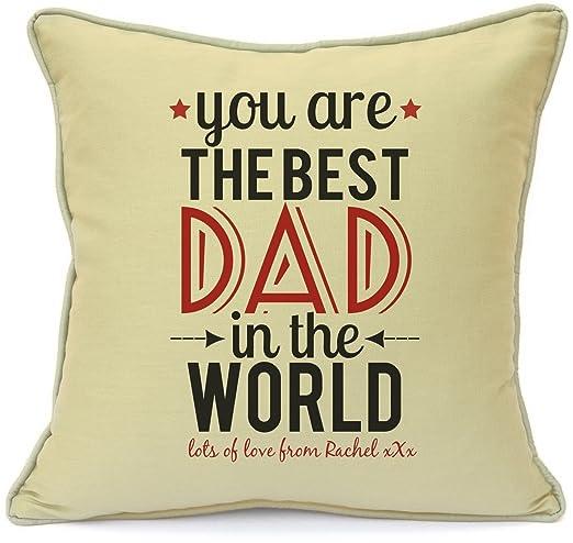 Funda para cojín personalizable regalo para Papá mejor papá ...