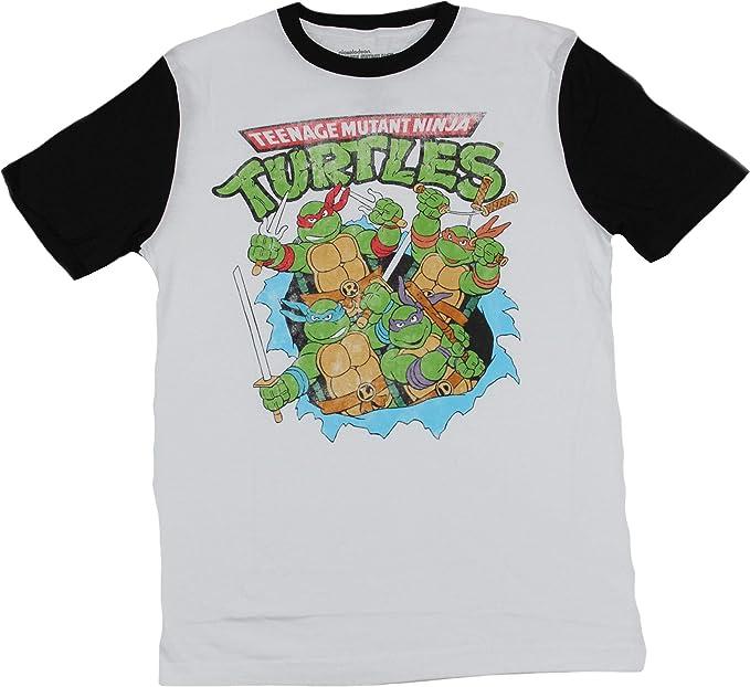 Hybrid Teenage Mutant Ninja Turtles Break Through Mens T-Shirt