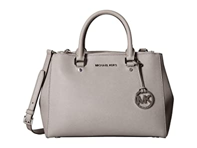 9ec6adbe73f1 Michael Kors Sutton Medium Satchel - Pearl Grey/Silver: Amazon.co.uk ...