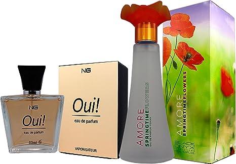 Set de 2 (Dos) Perfumes franceses de alta calidad Para Mujer Amore Springtime 100ml
