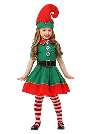 7e17400a7 Amazon.com  Toddler Holiday Elf Costume  Clothing