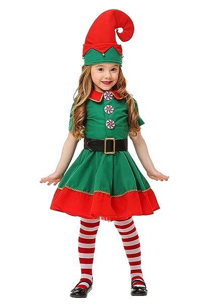 Amazon.com: Disfraz de elfo de vacaciones para niño, 4T ...