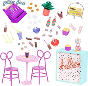 "Glitter Girls by Battat – GG Sweet Shop Terrace – Patio Furniture Set for 14"" Dolls - Toys, Clothes & Accessories for Girls 3-Year-Old & Up"