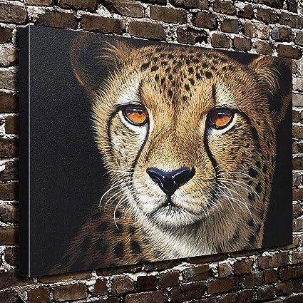 Amazon.com: COLORSFORU Wall Art Painting Cheetah Prints On Canvas ...