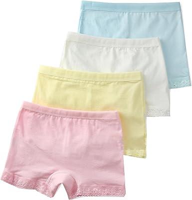 Wookki Lot De 4 Culottes Enfant Panty Shorty