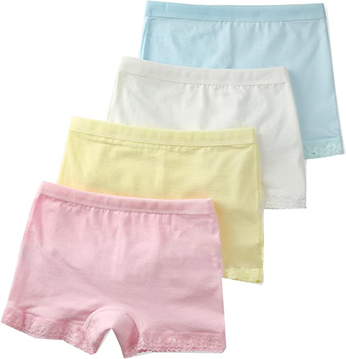 Wookki Lot De 4 Culottes Enfant Panty Shorty