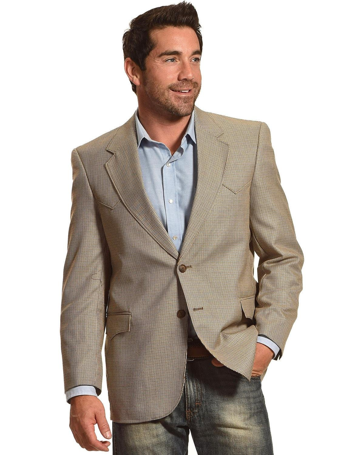 Circle S Men's Lubbock Sport Coat Big and Tall Brown 40 LNG