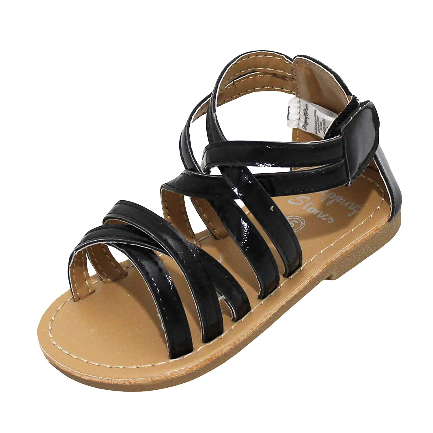 08b6a0280d1 Stepping Stones Little Girls Gladiator Sandals (Girls Strappy Sandals)  Sizes 3-10 Silver Gold, Copper Black