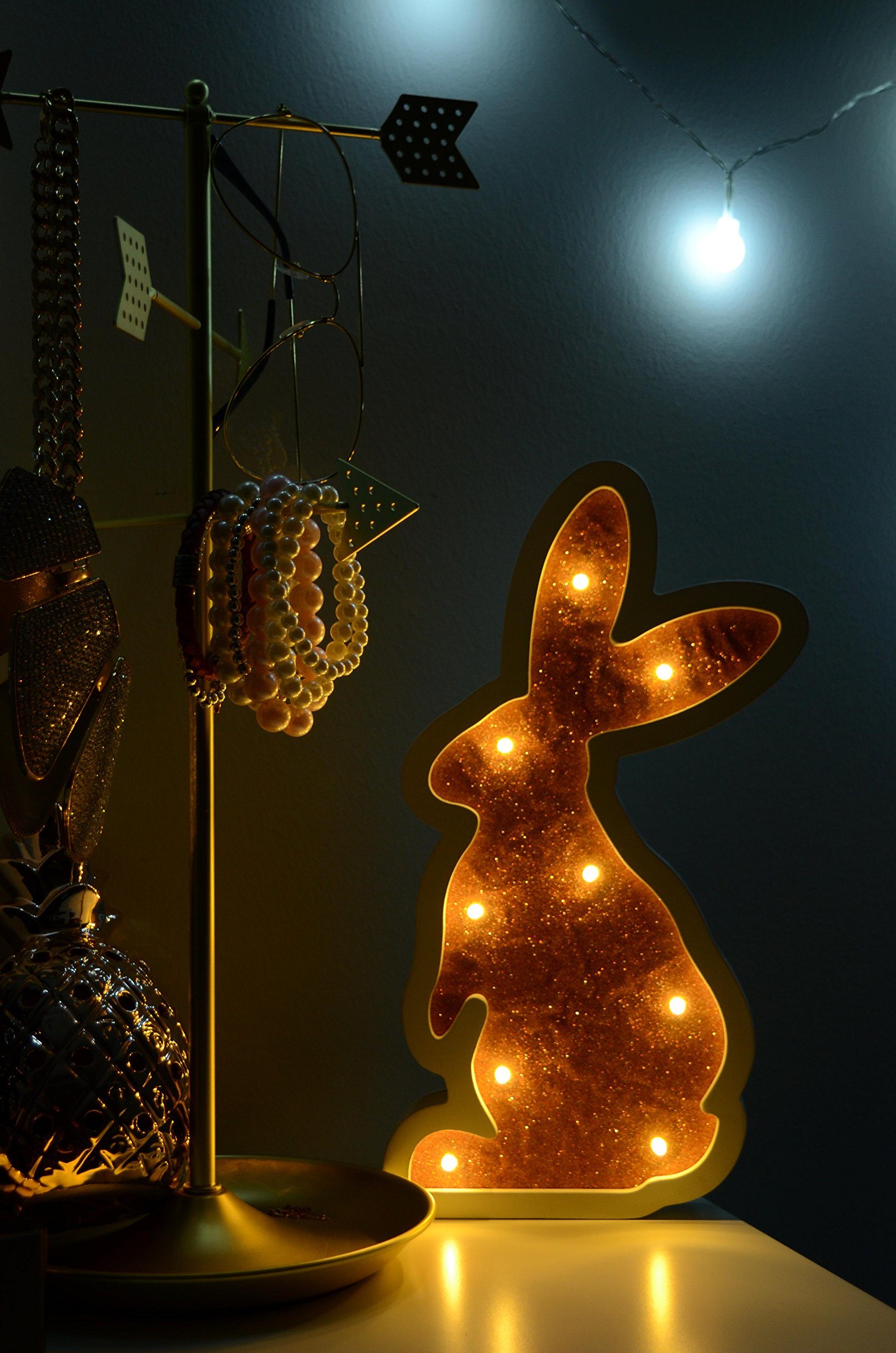 Night Light: Kids Lamp, LED lights, Baby Rest, Bunny Animal, Bedroom Home Decoration, Baby shower