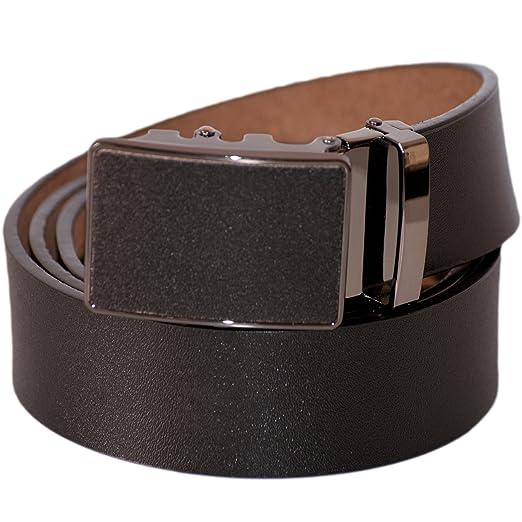 8 opinioni per Dazoriginal Nero Cintura con Fibbia Automatic Cintura da Uomo in Vero Pelle