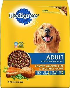 Pedigree Complete Nutrition Adult Dry Dog Food Roasted Chicken, Rice & Vegetable Flavor, 13.5 Lb. Bag
