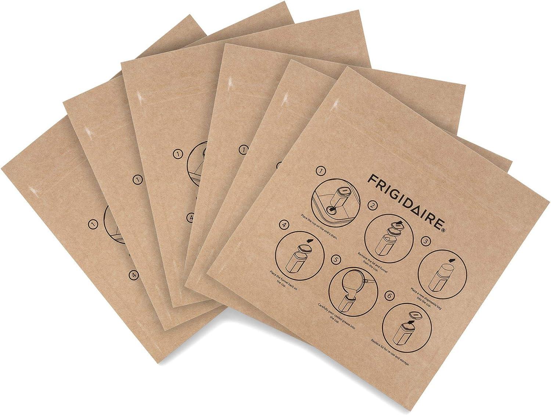 Frigidaire 11FFGBAG01 ReadyStore Food Storage Bags, 6 Piece, Brown