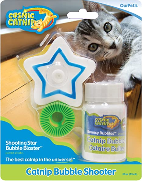 Amazon Com Ourpets Catnip Shooting Star Bubble Blaster Cat Toy