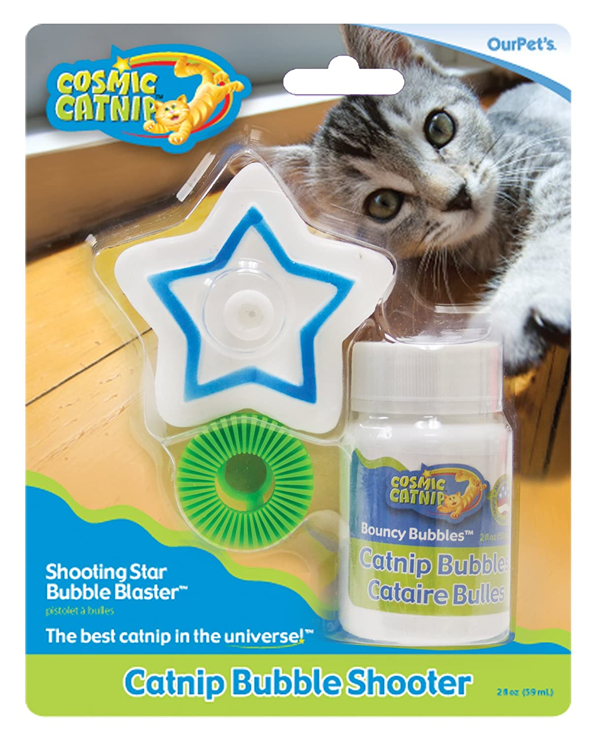 OurPets Catnip Shooting Star Bubble Blaster Cat Toy