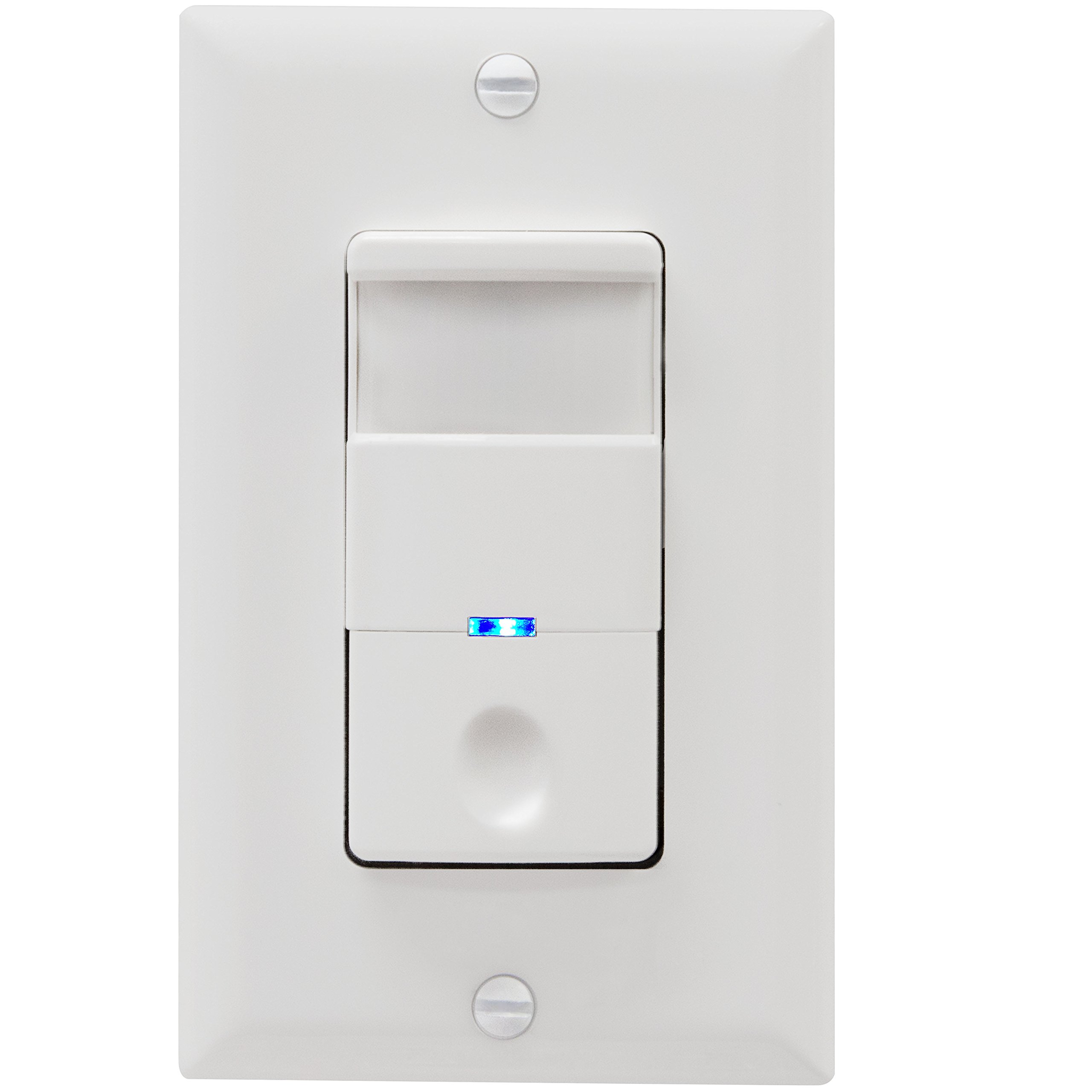 TOPGREENER Motion Sensor Switch, 4A, No Neutral Required Models, Heavy Duty, Single-Pole, TDOS5-J-W, White