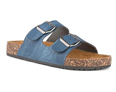 772cc9d48f9ac Twisted Women s Payton Double Strap Cork Sole Sandal - PAYTON43 DK Denim
